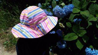 【おでかけ・子育てグッズ】夙川公園の紫陽花と、1歳~2歳の日焼け・虫除け対策グッズ