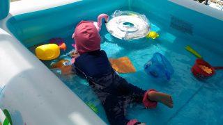 【おもちゃ・子育てグッズ】夏はやっぱりビニールプール!INTEXサンシェードプールと電動エアポンプ♪