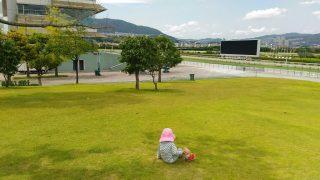 【おでかけ・公園】春秋の公園遊び、ピクニックに!平日無料の宝塚の遊び場、阪神競馬場公園♪