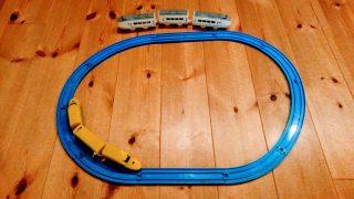 【おもちゃ】実験☆プラレールのレールで、ダイソーのプチ電車シリーズは走るのか?と、ドラえもんのロボッターを彷彿とさせるおもちゃ発見!
