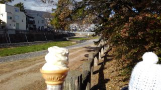 【カフェ記録・おでかけ】真冬のソフトクリームもなかなか良い♪M+カフェと、ジャリモでお散歩☆松風公園
