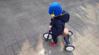 【おもちゃ・おでかけ】念願の三輪車♪エムアンドエムのmimiトライクブルーで、西宮中央運動公園と甲山森林公園へ